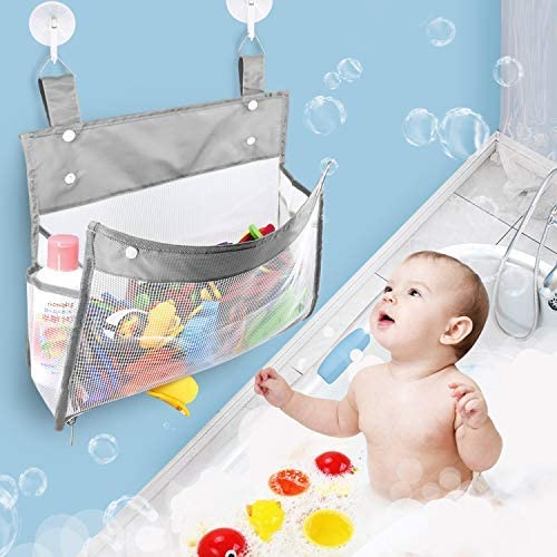 Rovvy Bombing Overseas parallel import regular item new work Greater Capacity and Bottom Organizer Bathtub Zippered Toy