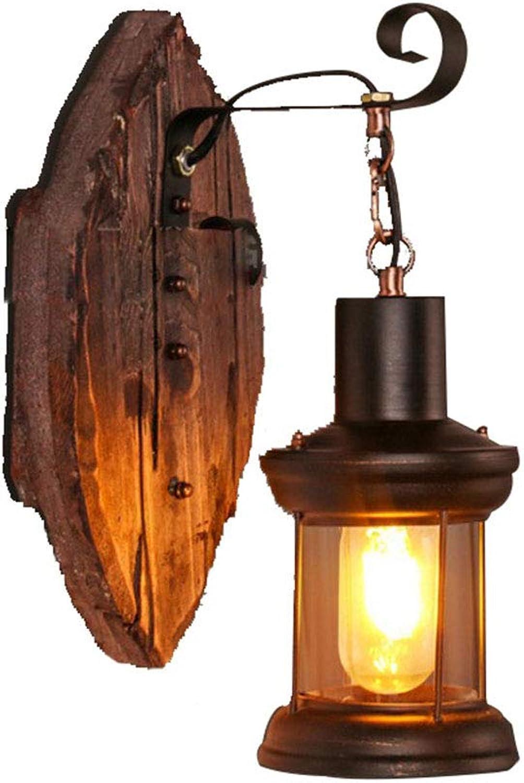 SYS-KCD Wandlampe, Metallwandlampe, Kerosinlampe Laterne, Retro-Wandlampe E27, Glaslampenlicht hohe übertragung, Keine Glühbirne