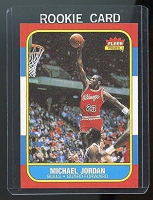 1986-87 Fleer #57 Michael Jordan Chicago Bulls Rookie REPRINT Card Special! Nice Gift Ships in New Card Holder