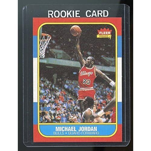 8137efb4ad462b 1986-87 Fleer  57 Michael Jordan Chicago Bulls Rookie REPRINT Card