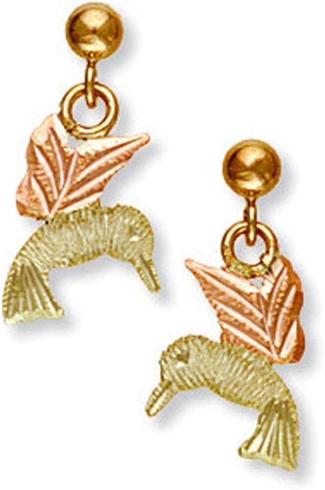 Landstroms 10k Black Hills Gold Hummingbird Earrings - G LER544