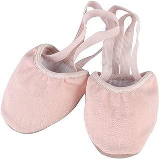 Fulision Ladies Elastic Strap Non-Slip Sole Ballet Training Half-Foot Shoes