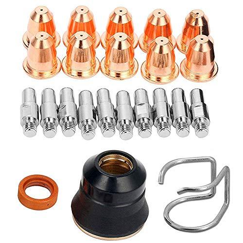 Tapón protector S45 Electrodo Slice Boquilla Plasma Slice Torch Herramienta de soldadura S45 Plasma Kit de accesorios Pack de 23