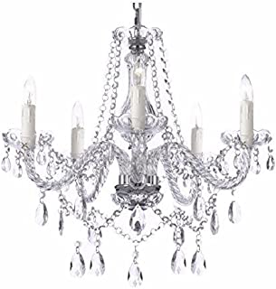 Saint Mossi Modern Contemporary Elegant K9 Crystal Glass Chandelier Pendant Ceiling Lighting Fixture - 5 Lights