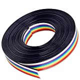 Material: Plastic and Copper Total Length: 15ft. length 10-wire ribbon cable