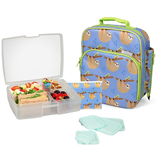 Product Image of the Bentology Lunch Bag and Box Set for Girls - Includes Insulated Bag, Bento Box, 5...
