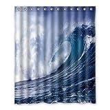 Dalliy Brauch ozean welle Wasserdicht Polyester Shower Curtain Duschvorhang 152cm x 183cm