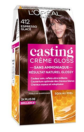 L'Oréal Paris Casting Crème Gloss Coloration Ton sur Ton pour Cheveux - Sans Ammoniaque - Expresso Glacé (412)