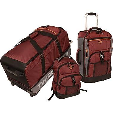 Timberland Hampton Falls 3 Piece Back To School Set, Chocolate Truffle/Steel Grey/Burnt Orange/Black