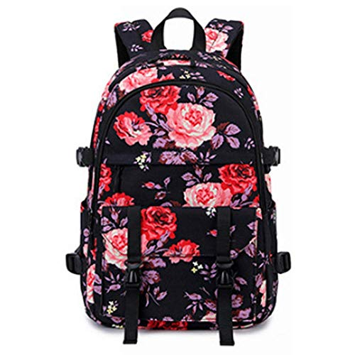 SHUINI Ladies Backpack Student Printed School Bag Outdoor Leisure Travel Bag Waterproof Oxford Cloth Backpack, 44 * 30 * 17cm