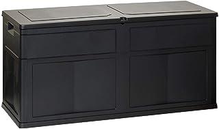 Coffre de Jardin 320 L TOOMAX 119 X 46 X 60 cm Noir Resine Anti UV Haute résistance gel et intempéries