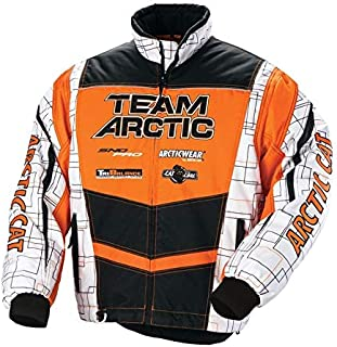 Arctic Cat Youth Team Arctic Orange Snowmobile Jacket (C4)