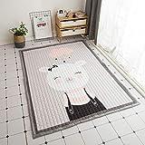 Kinderteppich Entwicklungsmatte Spielmatte wasserdichte Dicke Zwei Seiten Kind Süße Spielmatte Kind Dicke Picknick Teppich Teppich Baby Krabbeldecke Grauer Teppich