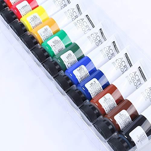 Juego de caballete //Pintura de acrílico//Cepillo//Palette//Lienzo 2x 40x50 cm