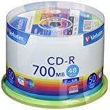 バーベイタムジャパン 三菱ケミカルメディア Verbatim 1回記録用 CD-R SR80FP50V1 (48倍速/50枚)