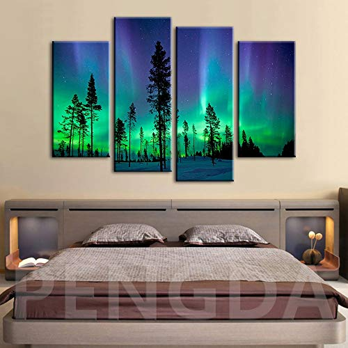 Geiqianjiumai Hauptdekoration HD Poster drucken Foto Aurora Landschaft Moderne Wandkunst Leinwand rahmenlose Malerei 30x60x2 30x80x2