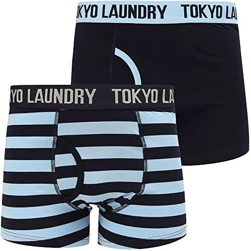Tokyo Laundry Herren Boxershorts 'Newburgh' (2-Pk) (Placid Blue/Sky Captain Navy) XL