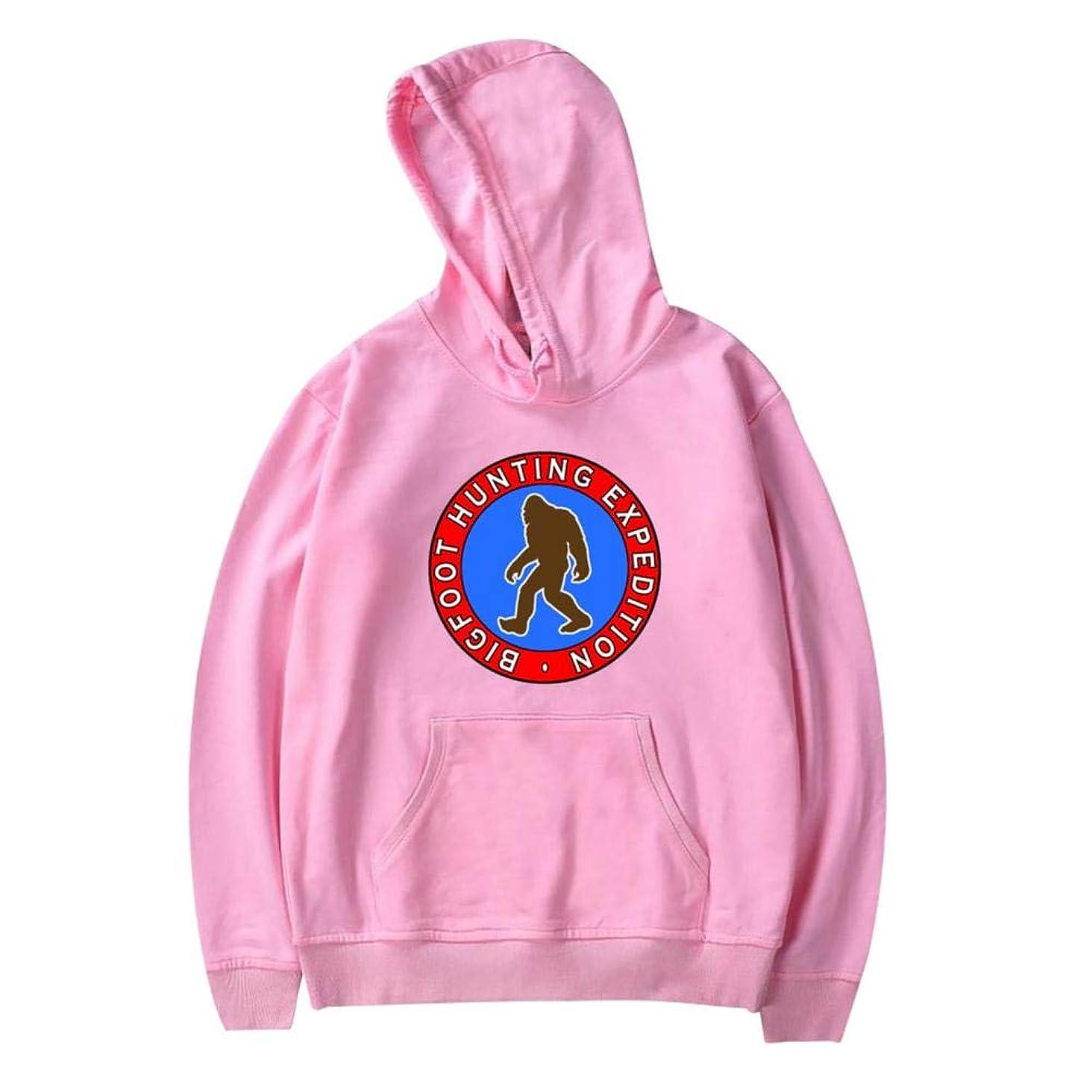 Aslgisy Boy Girl Hooded,Fashion Bigf-oot Hunting Expedition Printed Velvet Pocket Youth Fashion Hoodies
