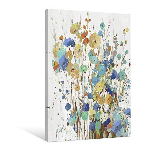 7 Fision Art カラフルな花2 アートポスター キャンバス絵画 抽象画 インテリア アートパネル 現代壁の絵 壁掛け 木枠付きの完成品