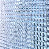 明和グラビア 【 飛散防止 窓飾りシート チェッカーガラス2本組 92×90cm 】防災 プライバシー 模様替え