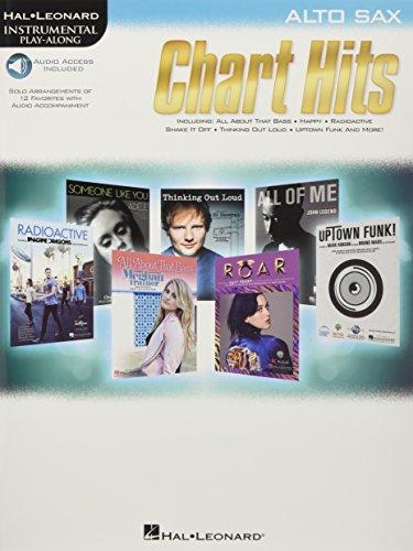 Chart Hits -For Alto Saxophone- (Book & Online Audio): Play-Along, Sammelband, Download (Audio) für Alt-Saxophon: Instrumental Play-Along (Hal Leonard Instrumental Play-along)