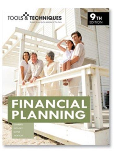 Tools & Techniques of Financial Planning (Tools and Techniques of Financial Planning)