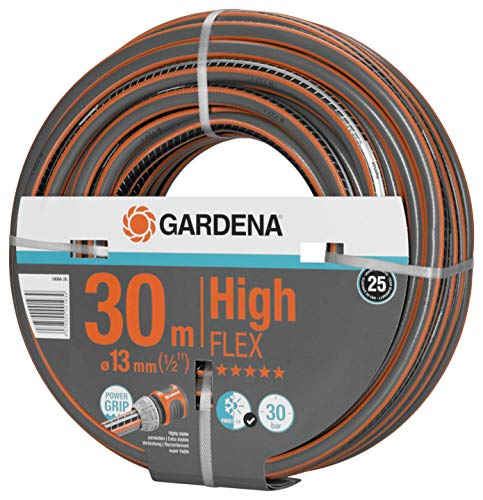 Gardena Comfort HighFLEX Schlauch 13mm (1/2 Zoll), 30 m: Gartenschlauch mit Power-Grip-Profil, 30 bar Berstdruck, formstabil, UV-beständig (18066-20)