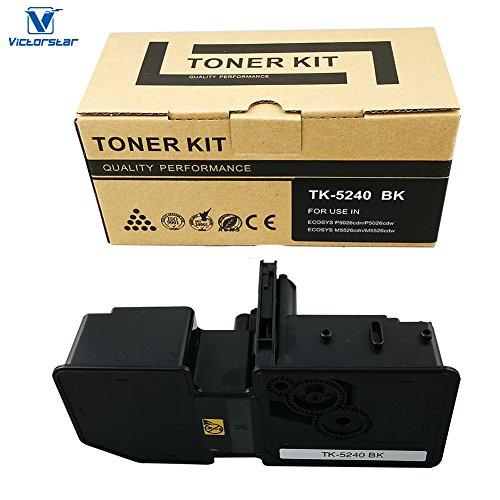 VICTORSTAR @ Cartucho de Tóner Compatible TK5240 / TK-5240 para Impresoras Láser Kyocera ECOSYS P5026cdn / P5026cdw / M5526cdn / M5526cdw (Black)