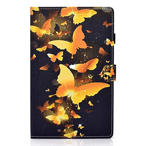 ZL One - Carcasa para tablet Lenovo Tab M10 Plus (piel sintética, con diseño de mariposas