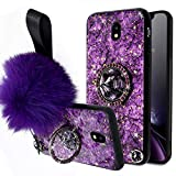 Ysimee Compatible avec Coque Samsung Galaxy J7 2017/J730 Paillette Glitter avec Diamant Ring Stand...