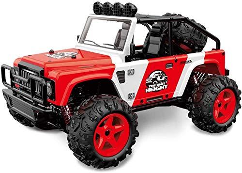 FCXBQ 1/22 Control Remoto Racing Car 4x4 Big Foot Off Road Truck 2.4GHz Radio Control de Alta Velocidad 40km / h Rally Vehicle, niños y Adultos (Color: Red, Size: 3 Battery)