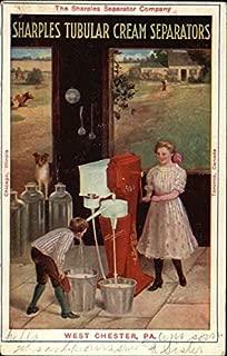 Vintage Advertising Postcard: The Sharples Separator Company - Tubular Cream Separators Advertising