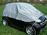 Kley & Partner Halbgarage Auto Abdeckung Plane Haube wasserdicht UV resistent kompatibel mit Smart Roadster