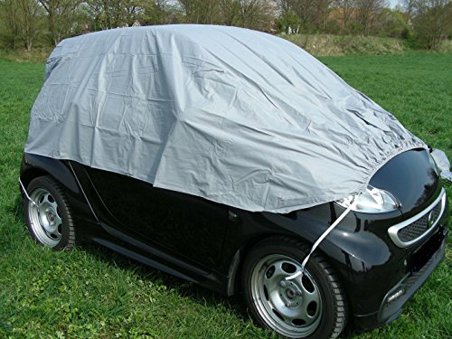 Kley & Partner Halbgarage Auto Abdeckung Plane Haube wasserdicht UV resistent kompatibel mit Smart FORFOUR