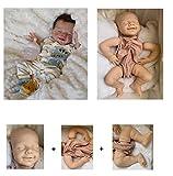 iCradle Kit de Kit de muñeca Reborn de Silicona Suave sin Pintar Accesorios de Suministro de Piezas Ideal para DIY Reborn Doll Tamaño Final 22 Pulgadas Cabeza Ojos Tela Cuerpo 4 extremidades (DK2001)