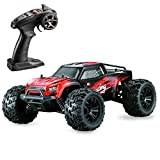 Hosim 1:14 Scale 4WD 36+ kmh High Speed RC Cars Large Size Remote Control Car Trucks 4x4 Off Road Vehicle Electric Monster Truck - All Terrain Waterproof Toys Trucks Cars for Kids and Adults(Red)
