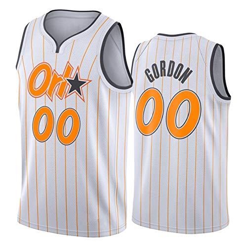 Orlando Magic 00# Aaron Gordon Men's Jersey, Chicos Chaleco 2021 New Swingman White City Edition Camiseta de Baloncesto Camiseta Juvenil Regalo (S-XXL) S