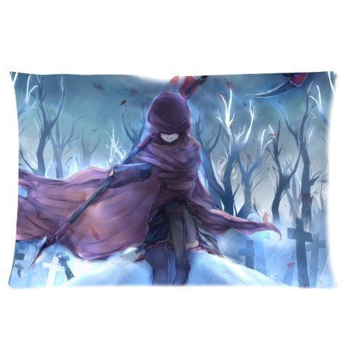 Tuesday Custom RWBY Anime Pillowcase Rectangle Soft Cotton Zippered Pillow Case Pattern Printed Kissenbezüge (50cmx75cm)