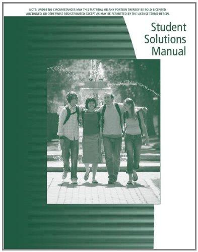 Student Solutions Manual for Keller's Statistics for...