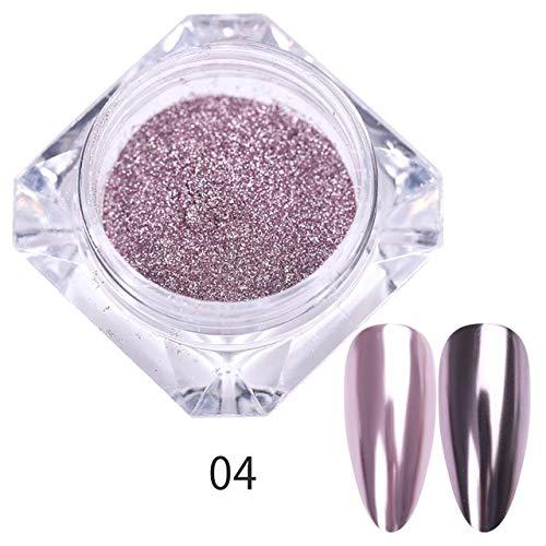 RSS Nail Spiegel Glitter Puder Metallic-Farben-Nagel-Kunst-UVgel Polieren Chrom Flakes Pigment Staub Dekorationen (Color : Pattern 04)