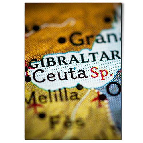 DV design 1 póster A1 – Póster de Ceuta España Mapa Gibraltar Granada – Imagen grande #21323