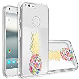Google Pixel XL Case,Topnow [Anti-Scratch PC + Shockproof Anti-Drop Soft TPU] Advanced Printing Pattern Phone Cases Glossy Drawing Design Cover for Google Pixel XL(Colorful Pineapple)