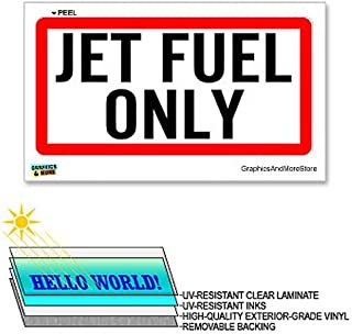 Jet Fuel Only - 12 in x 6 in - Laminated Sign Window Sticker