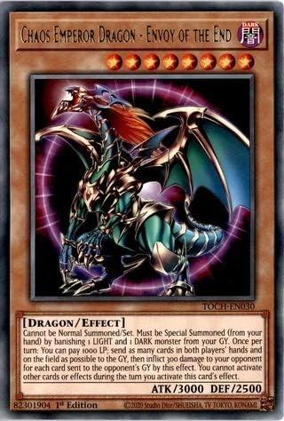 x3 chaos emperor dragon envoy of the end TOCH-EN030 rare 1st