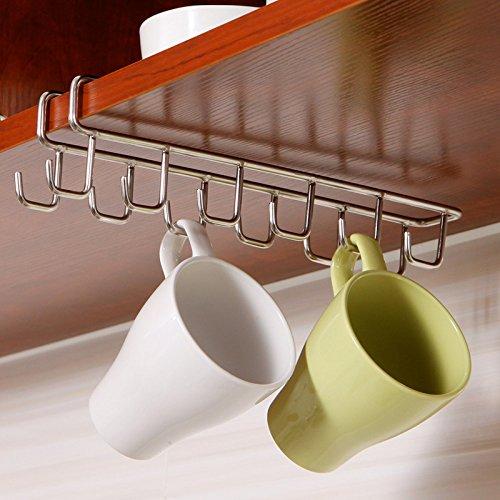 Stainless Steel Kitchen Storage Rack Cupboard Hanging Hook Shelf Dish Hanger Chest Storage shelf Bathroom Organizer Holder