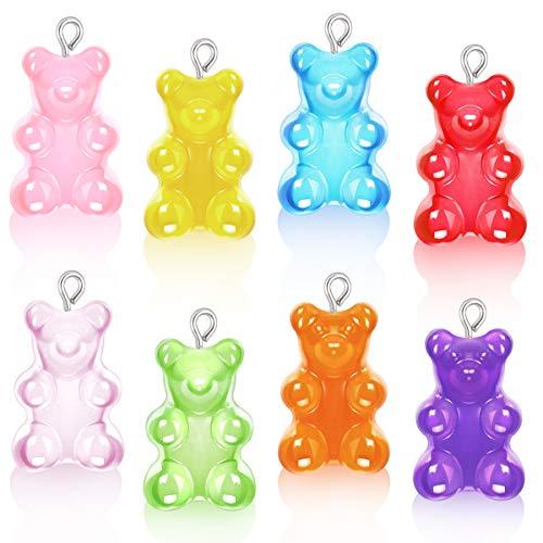 16 Pieces Resin Gummy Bear Penda...