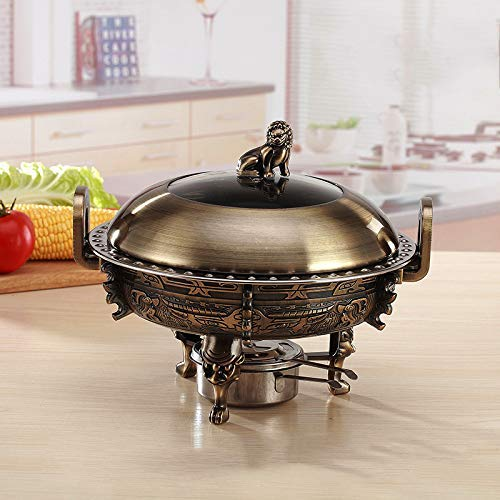 Chinese Large Copper Hot Pot,Traditional Charcoal Fondues,Not-magnetic Alcohol Stove For Meat And Vegetable E Diameter:33cm(13inch) WKY (Color : B, Size : Diameter:26cm(10.2inch))