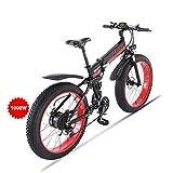 Huaeast Bicicleta eléctrica de montaña, 26' 1000W Batería 48V E-Bike Sistema de Transmisión...