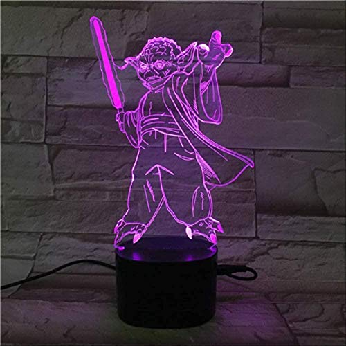 Illusion Lamp 3D Night Light 5-Color Led With Black Gradient Star Wars Table Lamp With Bluetooth Speaker