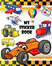 MY Sticker Book: Blank Sticker Collection Album To Put Stickers In, For Collecting, Drawing, Autographs, Sketchbook And Writing Notes | Gift for For Kids, Boys (Creative Notebook Journals)